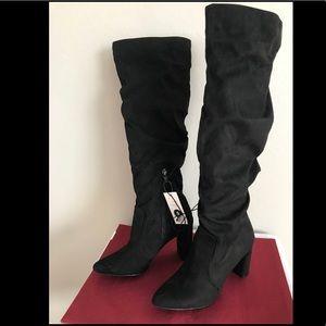 Super Chic, Angie heeled knee hi boots